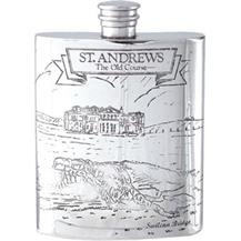 Pewter Hip Flask - 'St.Andrews'
