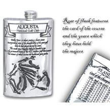 Pewter 'Golf Course' 8oz Hip Flask - 'Augusta'