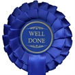Blue Well Done Rosette