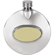 Pewter 3oz Round Slimline Flask - Plain