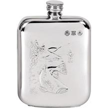 Pewter 6oz Hip Flask - Fishing