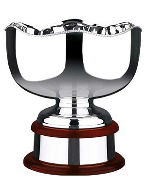 453 Plain Silver Plated Trophy Bowl