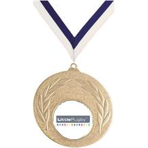 Little Rugby Medal M47 White Blue Ribbon