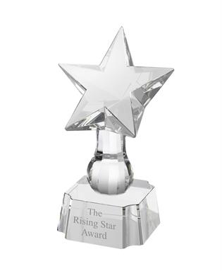 AC97 Engraved Optical Crystal Star Award