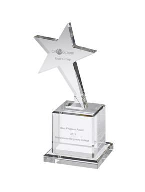AC116 Engraved Optical Star Award