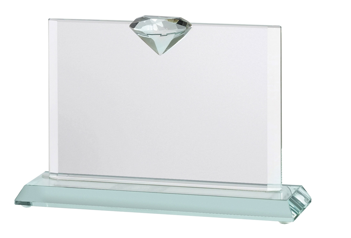 JOG024 Jade Diamond Glass Award