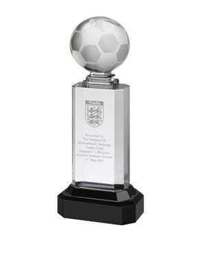 AC95 Engraved Crystal Football Award