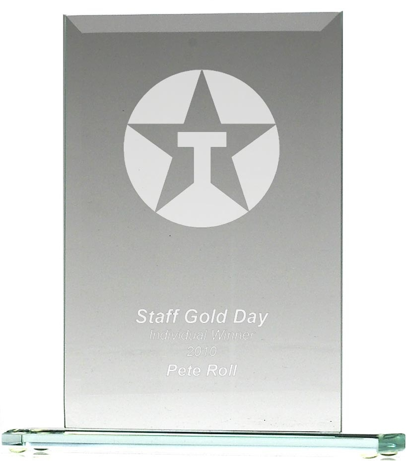 JC003 Apex Jade Glass Award Trophy
