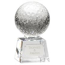 OK009C Optical Crystal Golf Ball Trophy Award