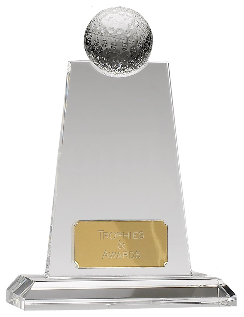 OC049 Optical Crystal Golf Trophy Award