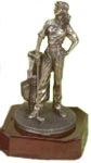 Cold Cast Bronzed Golf Figure - Female