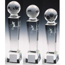 T9423 Crystal Football Trophy Group