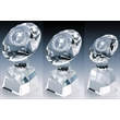 T8075-77 Crystal Football Trophies