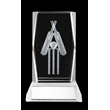 TDS006 3D Cricket Glass Trophy