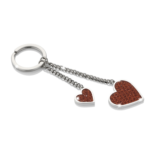 Swarovski Crystals ICE Red Heart Keyring