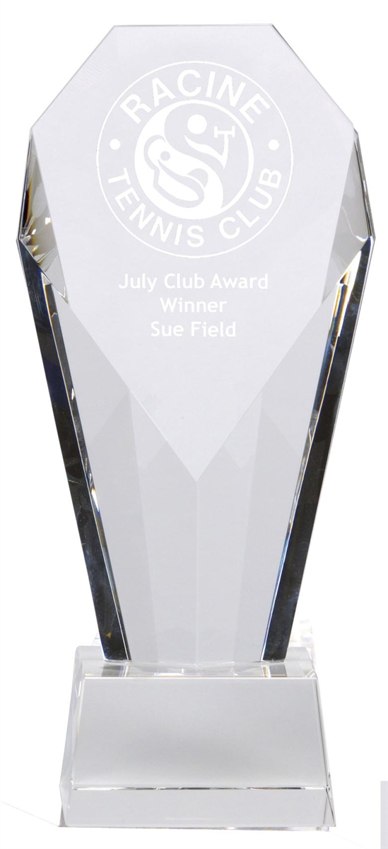 Clear Crystal Trophy Award KK110A