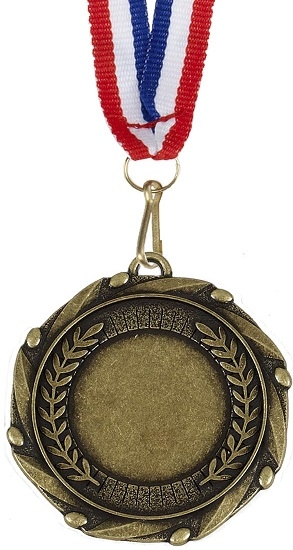 AM900G Antique Gold Medal with Ribbon