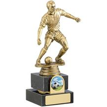A0333B Budget Football Trophy on Marble Base