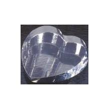 Optical Crystal Heart Paperweight