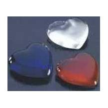 Lovely Glass Heart Paperweights