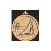 Hot stamped Bronze Medal - One man sailing