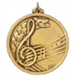 Hot Stamped Bronze Medal - Beautifully Designed Music Medal