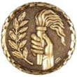 Hot Stamped Bronze Medal - Handheld Victory Torch