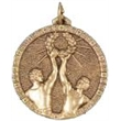 Hot Stamped Bronze Medal - Winners holding Victory Reef