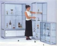 A Glass Showcase with Strong Anodised Aluminium Frame.