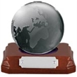 Finely Crafted Glass World Globe