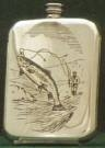 Stamped Drinking Flask - Fishing