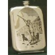 Stamped Pewter Drinking Flask - Shooting