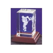 Optical Crystal 3D Laser Block - Male Tennis Player