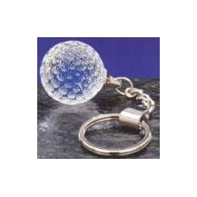 Optical Crystal Sphere Keyring - Golf Ball