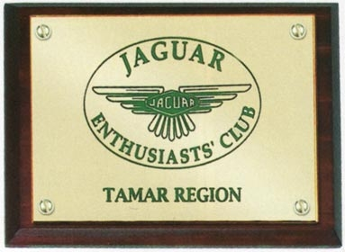 4.5in x 3.5in Solid Brass Wall Plaque