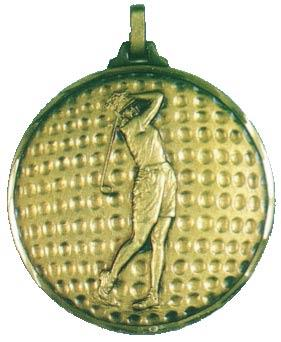 Faceted Female Golf Medal - Golf Ball Background