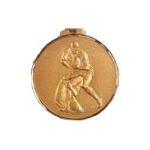 Faceted Medal - Rugby Tackle