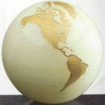 Marble Onyx World Globe with Flat Bottom