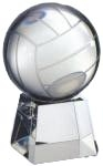 Optical Crystal Volleyball with Clear Base