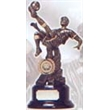Finely Designed Antique Gold Football Award - Overhead Kick