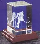 Optical Crystal 3D Laser Block - Ice Hockey Player