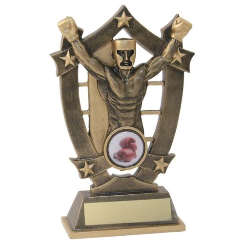 JR10-RF479 Bronze/Gold Resin Boxing 5-Star Trophy