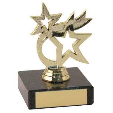 JR12-TY52A Gold Plastic+Marble 'Dancing Star' Trophy