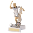 JR14-RF897 Silver/Gold/Black Resin Female Ten Pin 'Star Action' Figure Trophy
