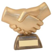 JR19-RF500 Bronze/Gold Resin 'Handshake' Trophy