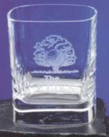 Strauss Square Whiskey Glass - 8oz