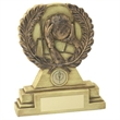JR23-LW25 Cream/Bronze Laurel Wreath 'Gaelic Football' Trophy