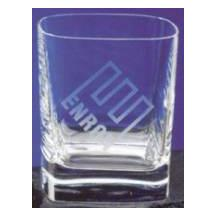 Strauss Square Whiskey Glass - 10oz