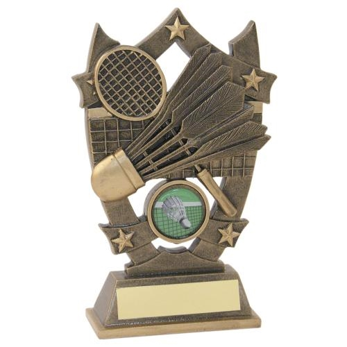 JR26-RF478 Bronze/Gold Resin Badminton 5