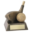 JR2-RF91 Bronze/Gold Resin Golf 'Driver' Trophy